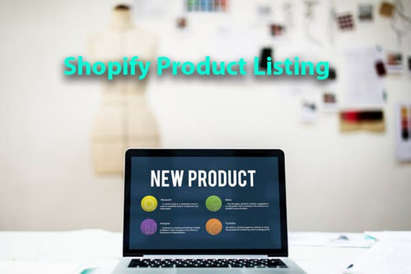 shopify product listing